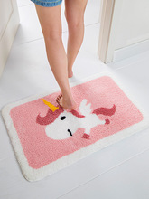 Home Cartoon Cute Bathroom Flocking Absorbent Floor Mat Sofa Coffee Table Non-slip Mat Bedroom Bedside Carpet