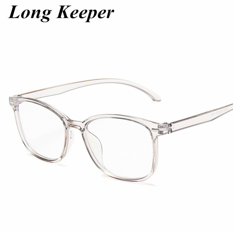 Square Female Eyeglasses Famous Brand Transparent Computer Glasses Large Frame Black Spectacles Women Nerd Myopia Clear Glasses