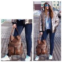 JIULIN Vintage Big Bags For Women Shoulder Bag Female Bucket Totes Girl All-Purpose High Quality Handbags 14Laptop