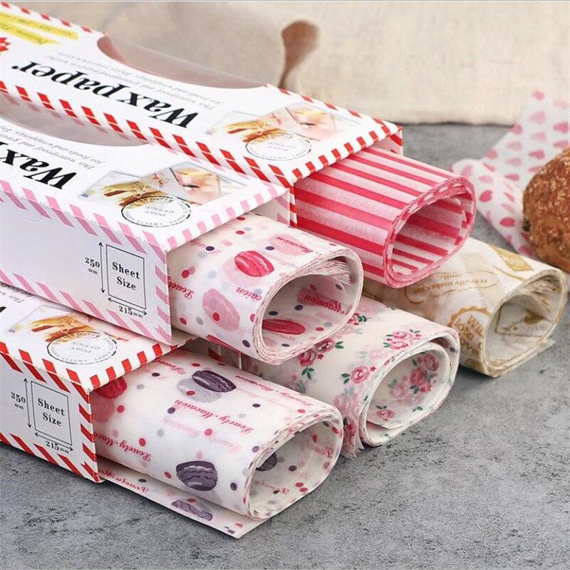 Papier ciré en papier gras de qualité alimentaire, 50 pièces, emballage pour pain, Sandwich, Burger, frites, papier huileux, outils de cuisson
