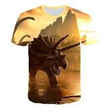 Cartoon Dinosaur T shirt 3D printed Sweatshirt Hoodie Harajuku Jurassic park Autumn Streetwear Boys and girls Casual shirt 8T