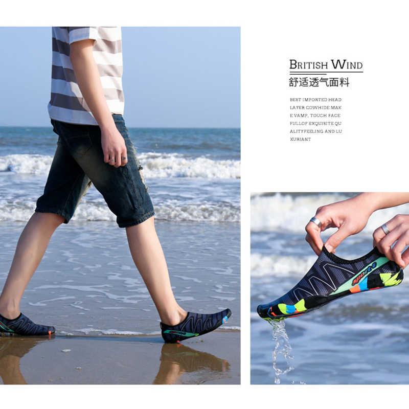 יוניסקס נעל שחייה נעל מים ספורט אקווה נעלי חוף ים חוף לגלוש נעלי Upstream קל צלילה ספורט נעל נשים נעל