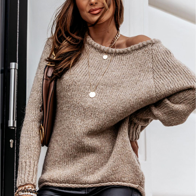 Plus Size 2021 Autumn Winter Long Sleeve Women Sweaters Pullovers Loose Oversized Sexy O-Neck Knitted Warm Sweater Woman Jumper 1