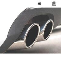 Para bmw f10 f11 f07 e12 e28 e34 e60 e61car silenciador do carro de aço inoxidável tubo de escape cauda garganta forro forma do carro cauda pip|Silenciadores| |  -