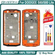 גבוהה איכות חדש מקורי קדמי מסגרת עבור DOOGEE S80/S80 לייט חזית שיכון כיסוי מקרה החלפת תיקון אביזרים חלקי