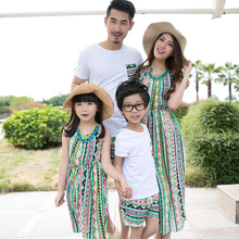 summer suit mother daughter dresses family matching clothes mommy and me son family look outfits t shirt sister robe mere fille matching family outfits print ruffle t shirt fishtail skirt suit mother daughter dress suit family matching clothes for kids 14t