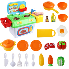 Kitchen Pretend Play Plastic Food Toy Kitchen Play House Cutting Fruit Vegetable Food Cooker Pretend Play Toys For Children new pretend play plastic food toy cutting fruit vegetable food pretend play kitchen food toy children for children birthday gift