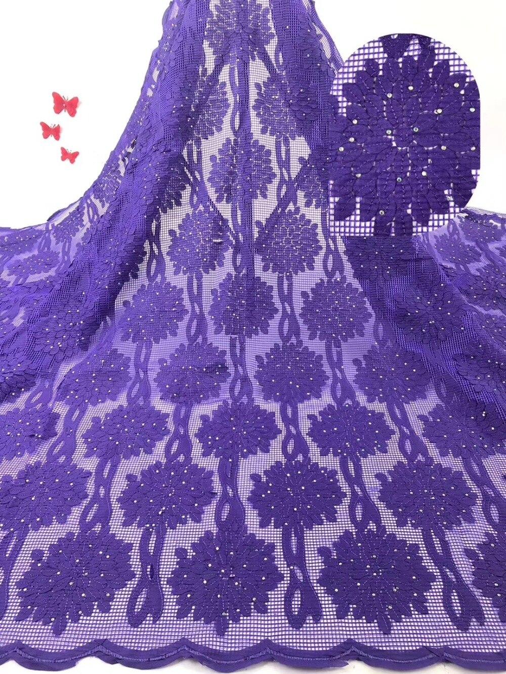 Rosa del ricamo tessuto Africano del merletto di alta qualità 2019 beautifule francese di tulle del merletto con i sequins per nigeriano del vestito delle donne-in Pizzo da Casa e giardino su  Gruppo 2