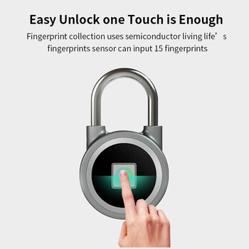 anti theft tamper waterproof anti rust so safety security padlock locks 50mm key atom copper blade idling cylinder Fingerprint Padlock Smart Bluetooth Security Lock with USB Charge Metal Waterproof Anti-Theft Keyless Padlock Suitable for House