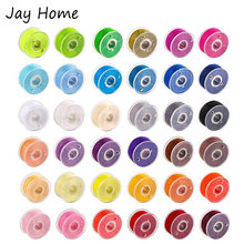 36pcs plastic sewing machine bobbins assorted colors threads