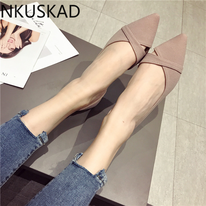 Ashion Casual Flat Shoes Woman New Summer Breathable Comfortable Soft-soled Shoes Pointed Toe Shallow Flat Women Shoes