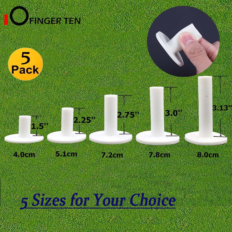 Professional Durable Rubber Golf Tees 5 Pcs Mixed Size Driving Range Tee Ball Holder Set for Indoor Outdoor Practice Mat