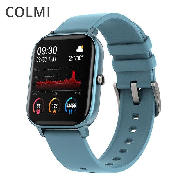 COLMI P8 2020 akıllı saat erkekler kadınlar spor saati kalp hızı kan basıncı monitörü IOS için akıllı saat Android