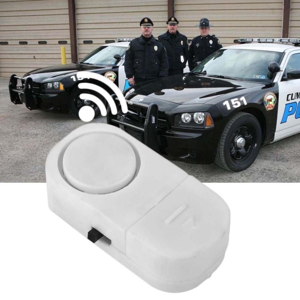 Self-adhesive Wireless Magnetic Sensor Burglar Door Window Entry Alarm Super Loud 90 DB Alarm With Stick Dustproof