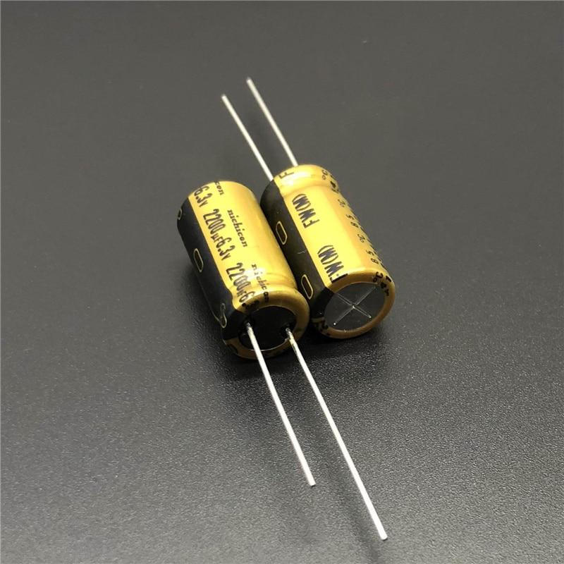 5pcs/20pcs 2200uF 6.3V NICHICON FW Series 10x20mm 6.3V2200uF HiFi Audio Capacitor