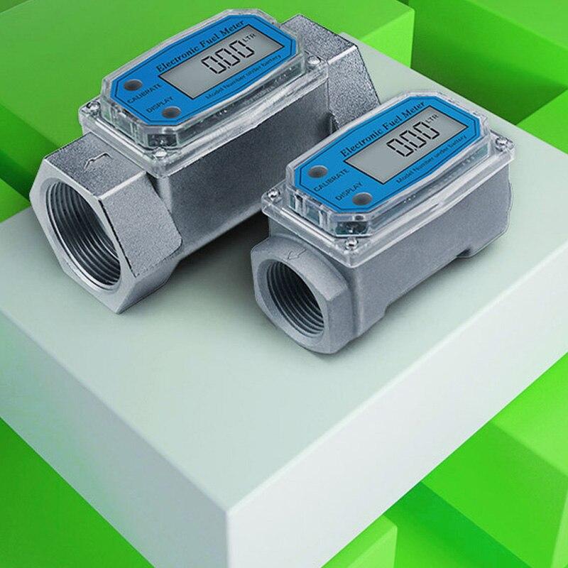 High-precision Electronic Turbine Flow Counter Display Liquid Crystal Diesel Gasoline Methanol Flow Meter Liquid Water Metering