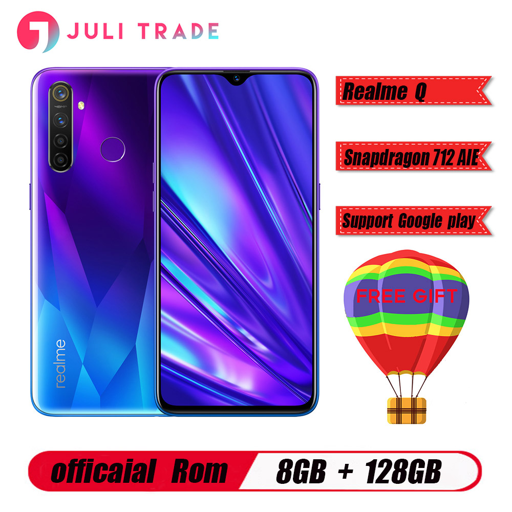 "Original Oppo Realme Q Mobile Phone Snapdragon 712 AIE 4305mah 6.3"" Full Screen Android 9.0 8GB RAM 128B ROM 48.0MP Fingerprint"