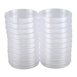20 szt. Sterylne plastikowe płytki petriego  średnica 100mm x 15mm  z pokrywką na
