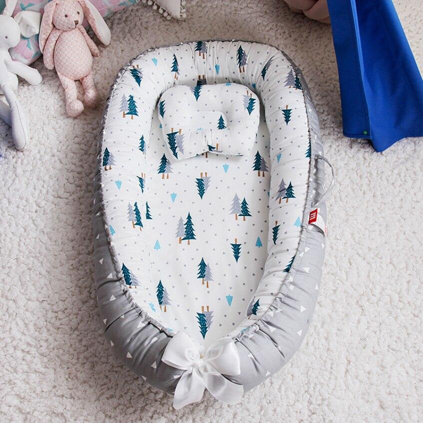 Nido de bebé portátil cama almohada de viaje cunas para recién nacidos nido de sueño cuna infantil bebé cuna con parachoques