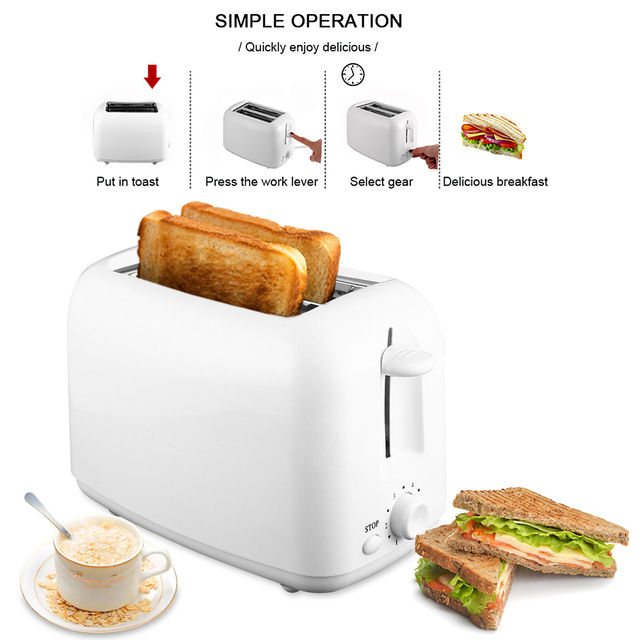 DIOZO 650W Automatic Toaster 2 Breakfast Bread Maker Baking Cooking Tool Fast Bread Toaster Household Breakfast Maker 3