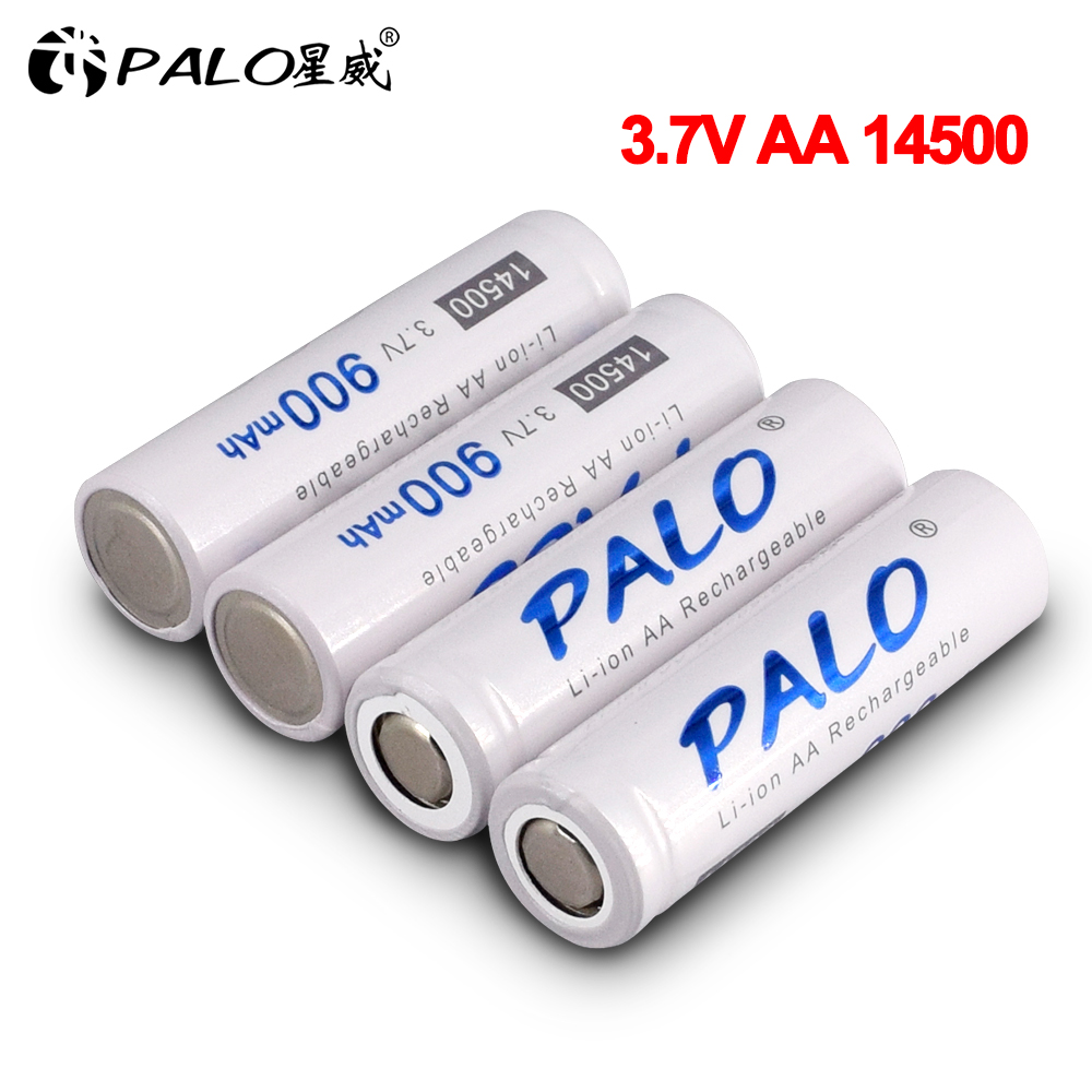 Palo 2-20pcs 900mah 3.7V <font><b>14500</b></font> AA lithium rechargeable battery <font><b>14500</b></font> battery <font><b>li</b></font>-<font><b>ion</b></font> batteries for Flashlight Headlamps Toy Mouse image