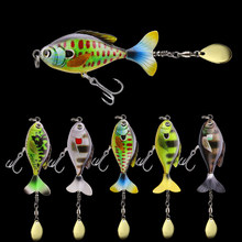WALK FISH Fishing Lure Jig VIB Spinner Floating Pencil 16.5G/6CM Wobbler Propeller Rotating Tractor Simulation Fishing Tackle(China)