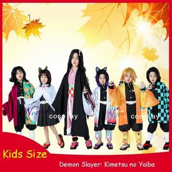 Kids Anime Kimetsu no Yaiba Demon Slayer Cosplay Costume Kamado Tanjirou Nezuko Zenitsu Tomioka Kimetsu no Yaiba Cosplay Kimono