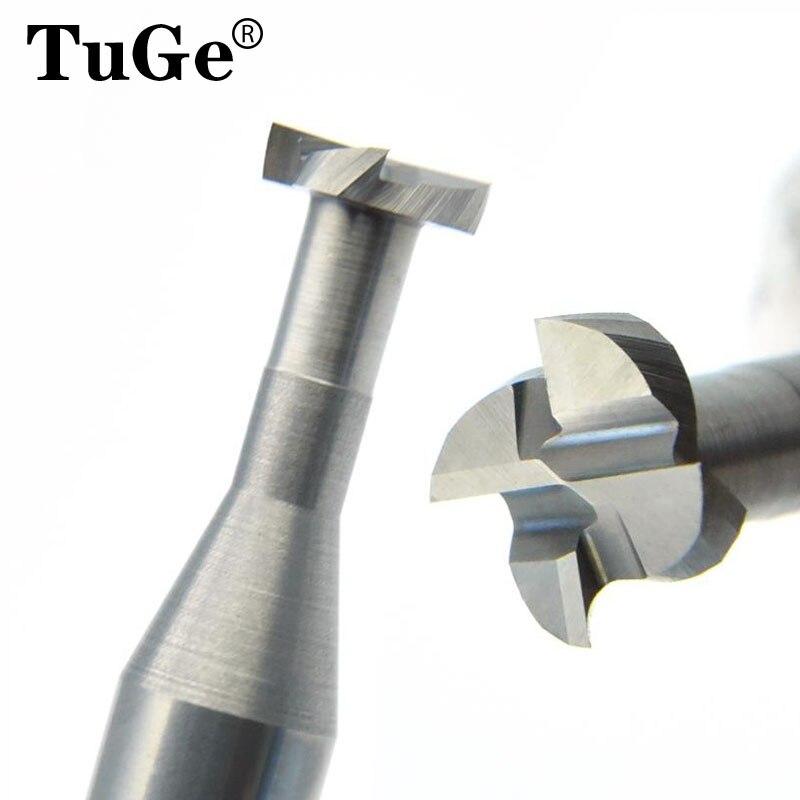 TUGE резка HRC60 4 Флейта вольфрам карбида стали фреза металлический сплав фрезерный инструмент Т-образная плоская Концевая мельница