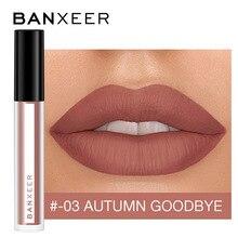 BANXEER błyszczyk matowy 8 kolorów błyszczyk aksamitna szminka płyn matowy wodoodporny odcień ust pełny i bogaty seksowny makijaż ust kosmetyki