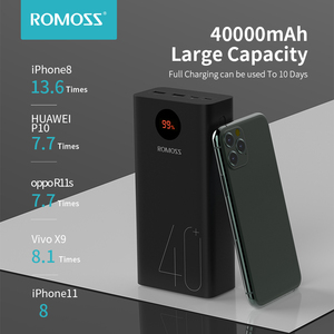 Image 2 - ROMOSS Zeus 40000mAh Power Bank 18W PD QC 3.0 Two way Fast Charging Powerbank Type C External Battery Charger For iPhone Xiaomi