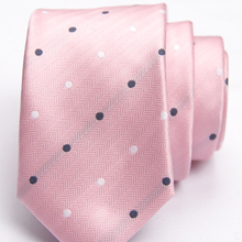 pink dotted pattern tie with fashion patterned skinny ties men 2020