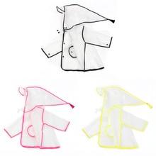Модная детская одежда Детский плащ-дождевик, водонепроницаемое пончо, дождевик пончо дождевик Шестерни Eva с капюшоном прозрачный, для мальчиков и девочек, плащи с карманами