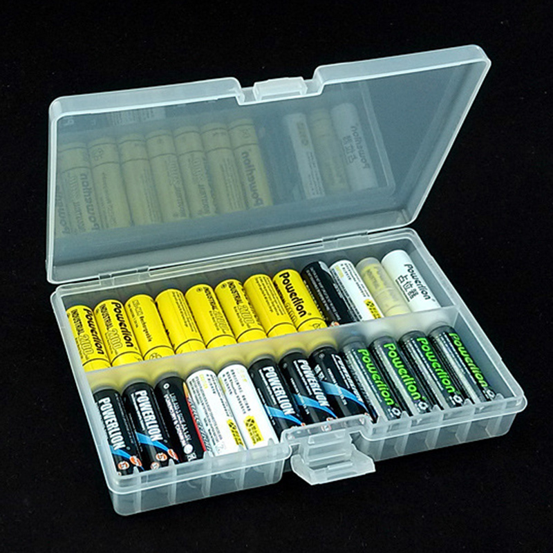 Transparent Plastic Battery Storage Case Organizer Holder Box for AA/AAA Batteries VH99