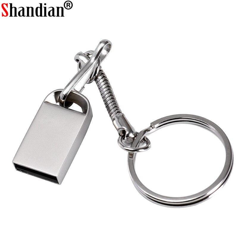 SHANDIAN Metal USB Flash Drive Thumb Drive 16GB Pendrive 32gb Flash Memory Stick 128gb Waterproof Pen Drive 4GB Usb Disk On Key