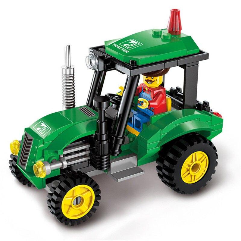 Supfy 112Pcs City Construction Tractor Model Building Blocks DIY Figure Toys For Children Christmas Bricks Compatible Legoing