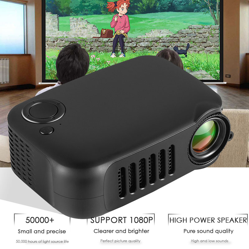 A2000 home mini miniatur kinder projektor LED unterhaltung unterstützung 240P projektor Projektor für Home Cinema