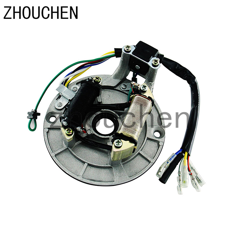 Universal Magnet <font><b>Motor</b></font> Stator Coils High Quality Magneto For ZS Lifan Loncin 50cc-<font><b>125CC</b></font> Engines Pit Dirt Bike CQ-102 image