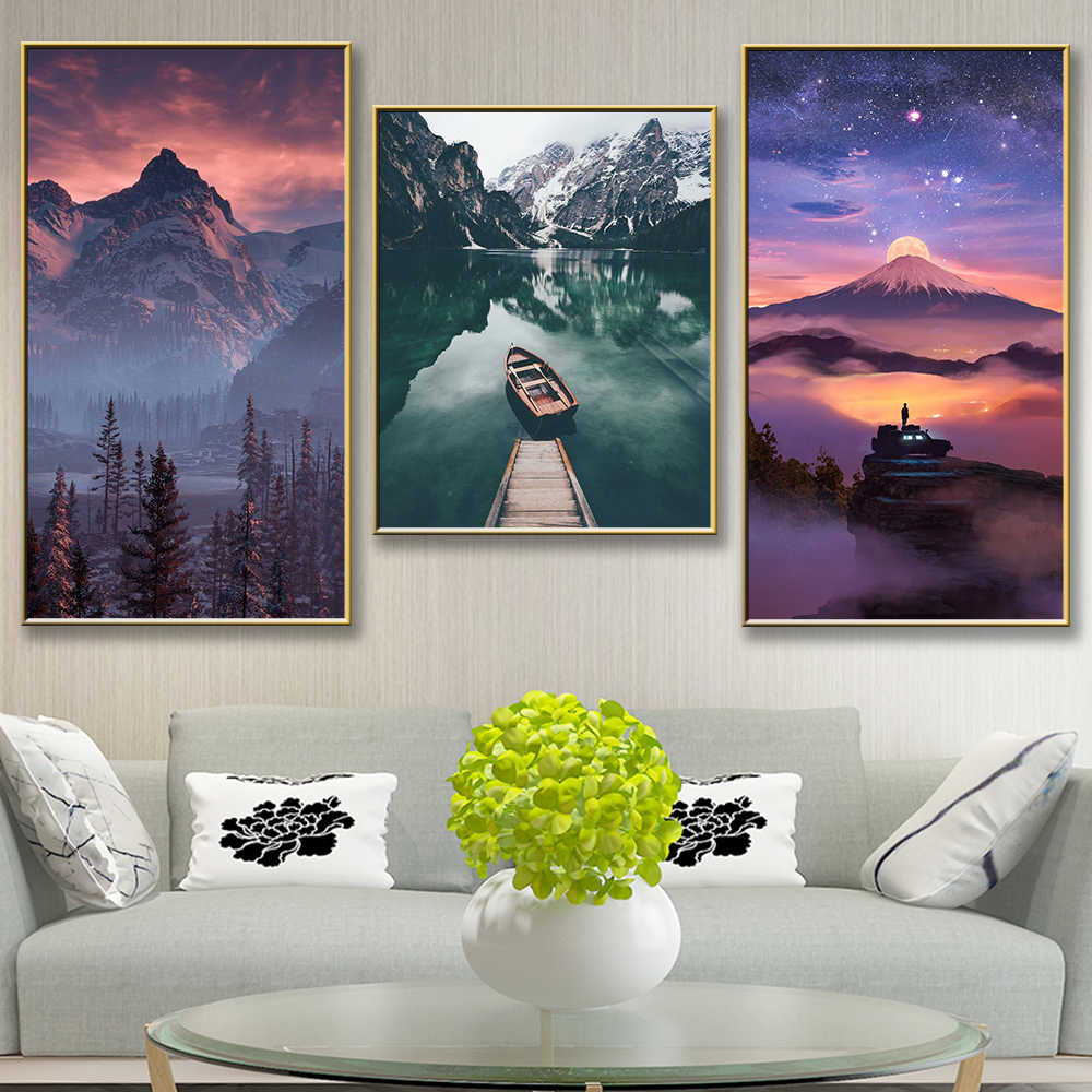 Beautiful scenery Art Decor Canvas Painting Wall Picture Wall Paomtomg For Living Room Bedroom Decor Poster Decoration