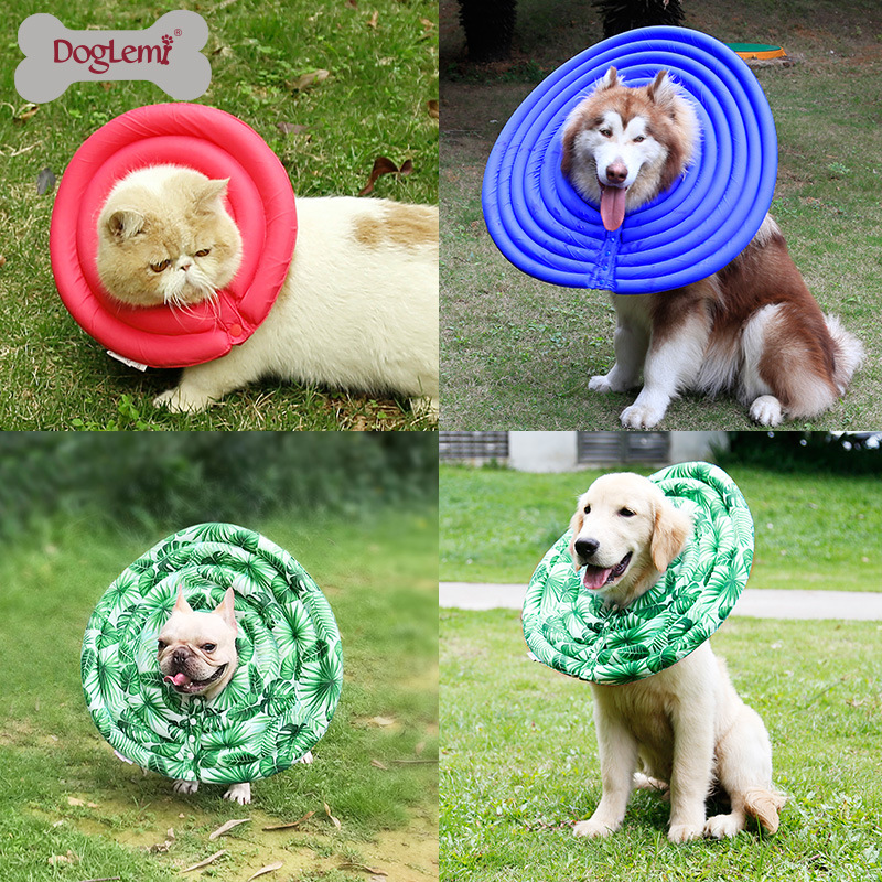 Nylon Protective Medical Cone E- Collar For Small Large Dogs And Cats 2