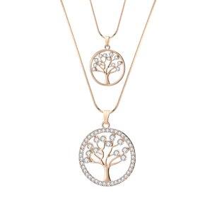 Round Tree Of Life Pendants Ne