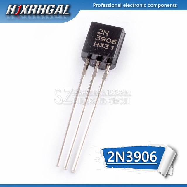 1 pièces 2N3906 TO-92 3906 TO92 0.2A 40V PNP Transistor