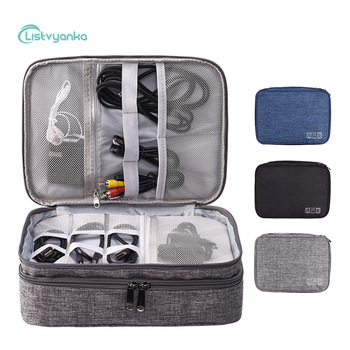 Cable Organizer Bag Electronic Storage Bag Gadget Organizer Charger Cable Wires Headphone Case Travel Digital Accessories Pouch 1