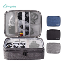 Travel Digital Storage Bag Portable Electronic Accessories Cable Organizer Power Charger Pouch Zipper Box Case USB