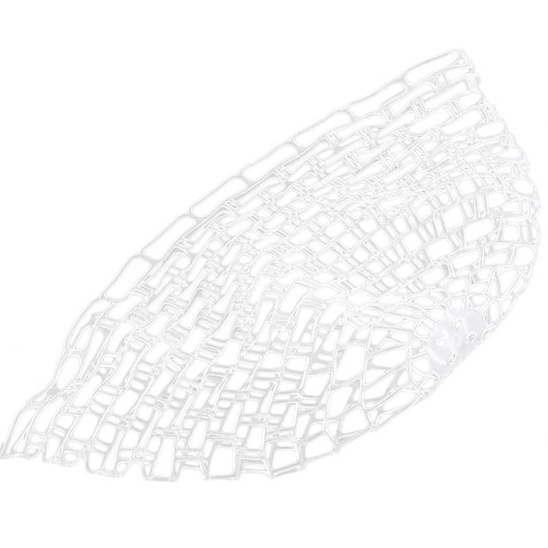 M//L Fly Fishing Replacement Landing Net White//Clear Rubber Fish Landing Net