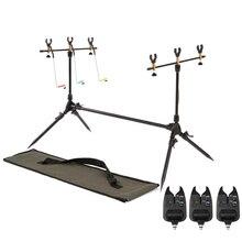 Держатель для удочек Lixada, регулируемая Выдвижная подставка для рыболовных удочек, аксессуар для ловли карпа