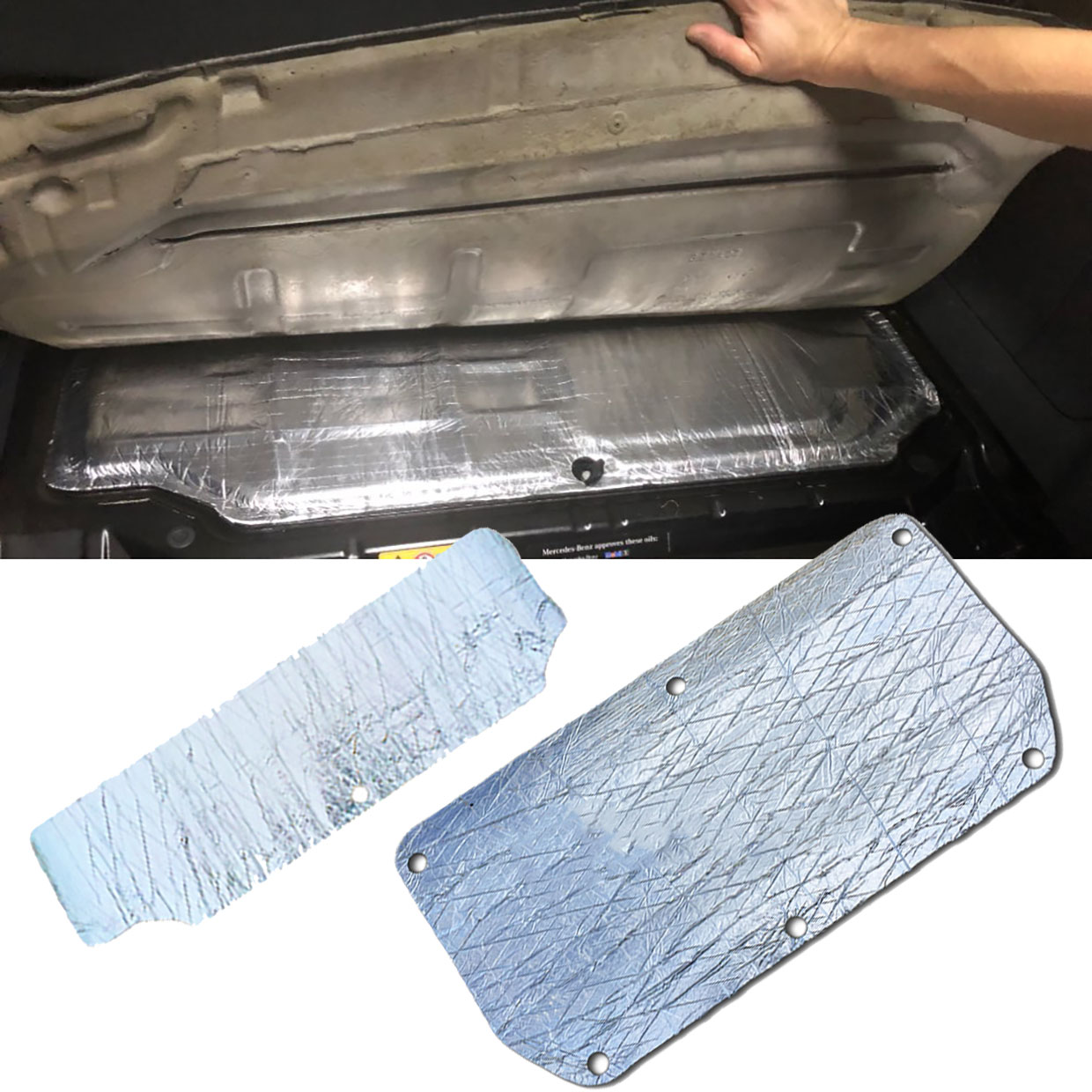 For Smart 451 Smart 453 Car Glass Fibre Sound Insulation Proofing Deadening Closed Cell Foam Car Hood Engine Firewall Heat Mat