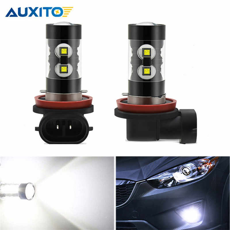 2pcs High Power H11 H8 H10 H16 5202 PSX24W P13 LED Bulb 12V 50W DRL Ultra Bright White Projector Car Fog Lamp Light