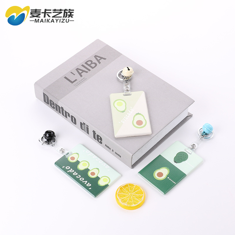 2019 Hot Sales Fashion Avocado Card Holder Employee Work Card Documents Badges Bus Bank Card Holder Lanyard Card Holder