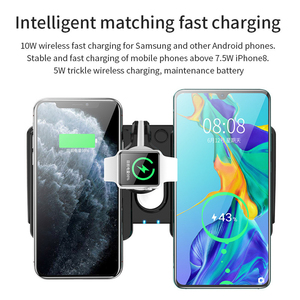 Image 5 - 4 in 1 QI Wireless Charger Dock Station for Apple Watch AirPods iPhone 8 X 8Plus XR 11 Pro XS Max 10W Fast Wireless Charging Pad