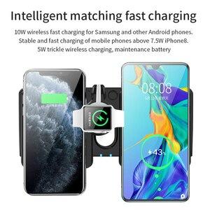 Image 5 - Bezprzewodowa ładowarka qi 4 W 1 stacja dokująca do Apple Watch AirPods iPhone 8X8 Plus XR 11 Pro XS Max 10W szybkie bezprzewodowe ładowanie Pad